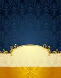 在维多利亚女王时代的样式金子和D的集合无缝的样式 免版税库存照片