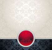 在维多利亚女王时代的著名人物的集合无缝的样式有花的关于 免版税库存图片