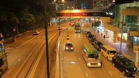 在维多利亚港口的烟花展示在香港 股票录像