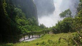 在维多利亚瀑布的一天 免版税库存照片
