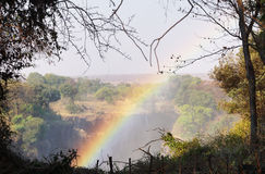 在维多利亚瀑布,津巴布韦的彩虹 库存图片
