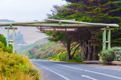在维多利亚状态,澳大利亚的大洋路纪念曲拱 库存图片
