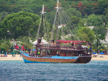 在巴巴多斯海盗船乐趣 库存照片