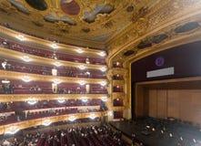 在贝多芬音乐会的观众在Gran Teatre del Liceu 免版税库存图片