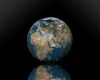 在任天堂背景的行星地球 免版税库存照片