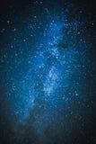 在满天星斗的天空下 图库摄影