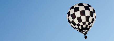 在晴天的热空气气球 库存照片