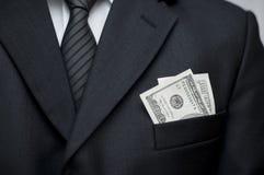 $100在口袋 免版税库存图片