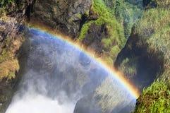 在默奇森Falls顶部 免版税图库摄影
