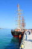 在索契港的保加利亚风船Kaliakra  免版税库存照片