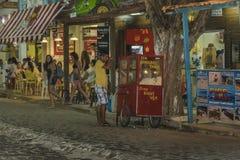 在负子蟾巴西的都市场面 免版税库存照片