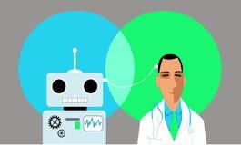 在医学的人工智能 图库摄影