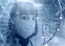 在医学的创新技术 3D在拼贴画的例证元素 免版税库存照片