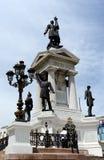 在1879年对伊基克海军作战的英雄的纪念碑在广场Sotomayor 图库摄影