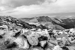 派克的峰顶,科罗拉多 库存照片