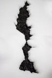 在冻小河的孔 库存图片