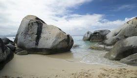 在维尔京Gorda的岩石 免版税库存图片