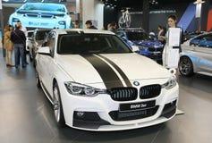 在贝尔格莱德车展的BMW 免版税库存照片