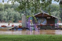 洪水在贝尔格莱德 库存照片