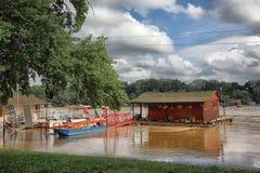洪水在贝尔格莱德 免版税库存照片