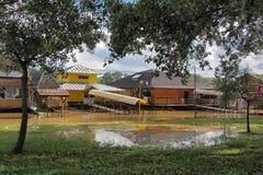 洪水在贝尔格莱德 图库摄影