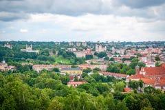 在维尔纽斯,立陶宛的首都的看法 库存照片