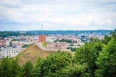 在维尔纽斯,立陶宛的首都的看法 免版税图库摄影
