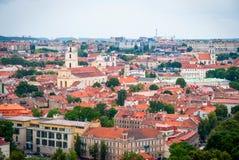 在维尔纽斯,立陶宛的首都的看法 库存图片