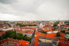 在维尔纽斯,立陶宛的首都的看法 图库摄影