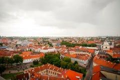 在维尔纽斯,立陶宛的首都的看法 免版税库存照片