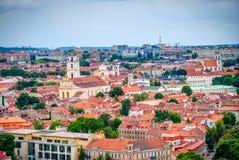 在维尔纽斯,立陶宛, HDR照片的首都的看法 库存图片