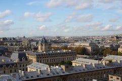 在巴黎屋顶的看法  免版税库存照片