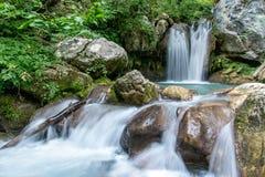 在黑山北部, waterfal 免版税库存图片