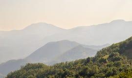 在黑山的山 库存图片