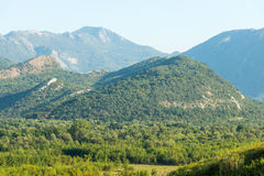 在黑山的山 图库摄影