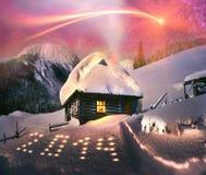 在黑山的月出 免版税图库摄影