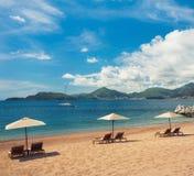 在黑山的海滩 免版税图库摄影