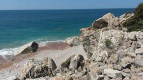 在黑山的海滩 免版税库存图片