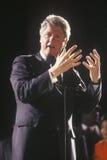 在1992年州长比尔・克林顿告诉在得克萨斯市场活动集会在他的最终日竞选在英尺财产,得克萨斯 价值,得克萨斯 免版税库存照片