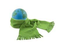在围巾包裹的地球 免版税库存照片