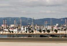 在直布罗陀的领域的石油工业 免版税库存照片