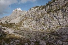 在贝希特斯加登附近的Mountain湖 库存照片
