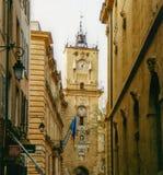 在2002年云香Marechal福煦和游览de l ` Horloge在艾克斯普罗旺斯 库存照片