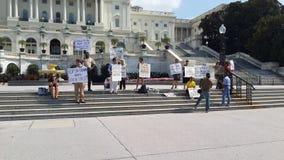 在2013年华盛顿特区国会大厅抗议者 免版税图库摄影