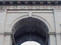 在1931年印度门做的所有印度战争纪念建筑曲拱曲拱的板刻,新德里,印度;设计由埃德温・鲁琴斯19诺韦先生 免版税库存照片