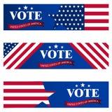 在2018年对美参院的竞选 美国竞选的模板 投票概念传染媒介例证的美国 免版税库存照片
