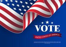 在2018年对美参院的竞选 美国竞选的模板 投票概念传染媒介例证的美国 库存图片