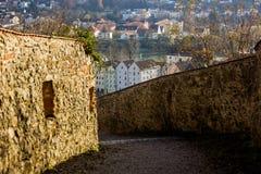 在1219年建立的堡垒,帕绍,德国 图库摄影
