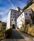 在1219年建立的堡垒,帕绍,德国 库存图片