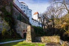 在1219年建立的堡垒,帕绍,德国 免版税库存照片